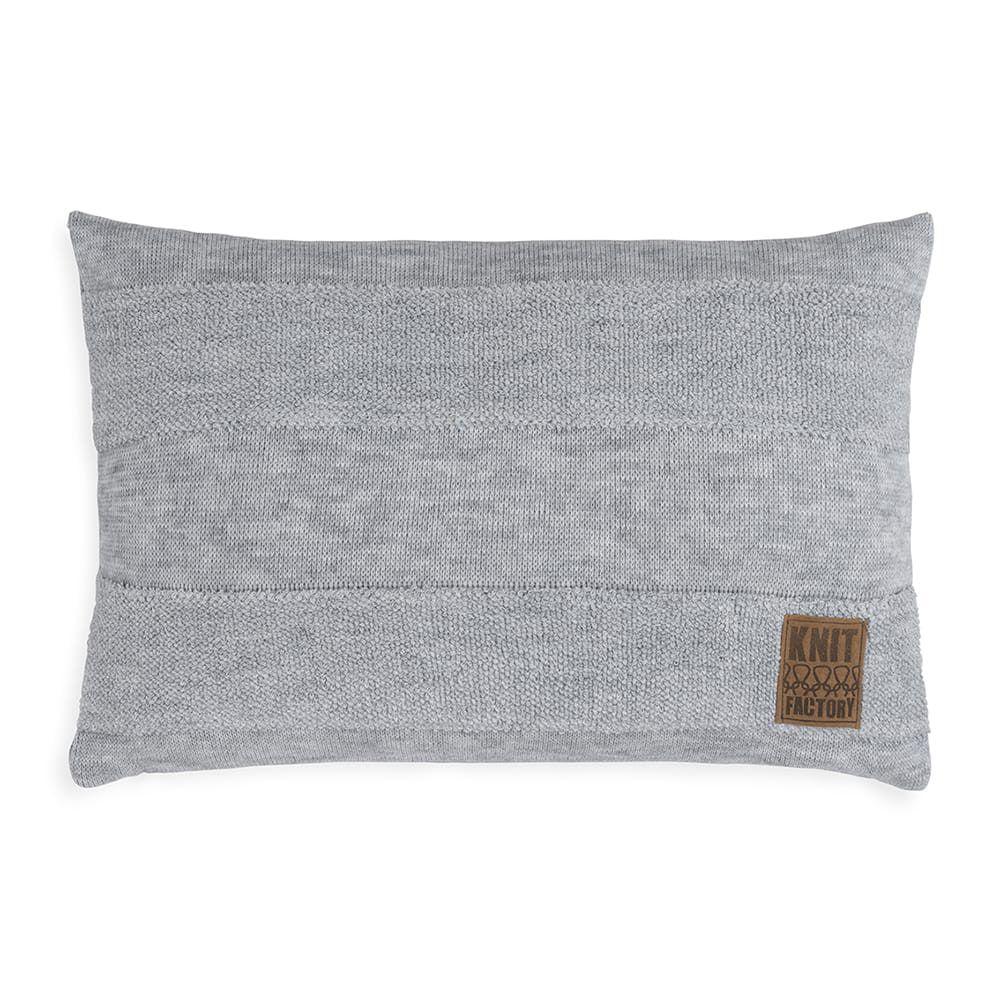 knit factory 1351311 yara kussen 60x40 licht grijs 1