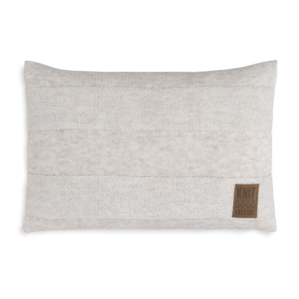 knit factory 1351312 yara kussen 60x40 beige 1