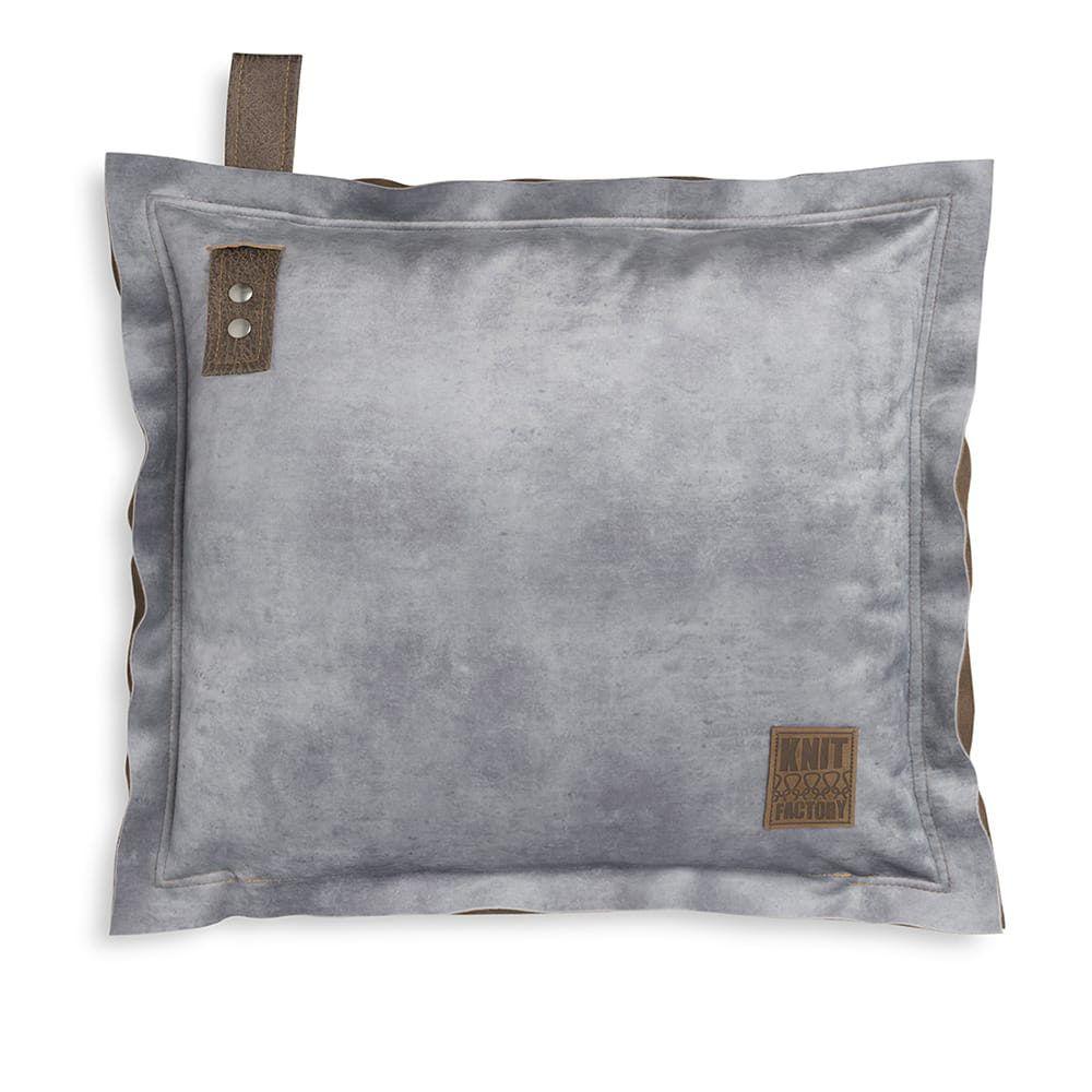 knit factory 1361211 dax kussen 50x50 licht grijs 1