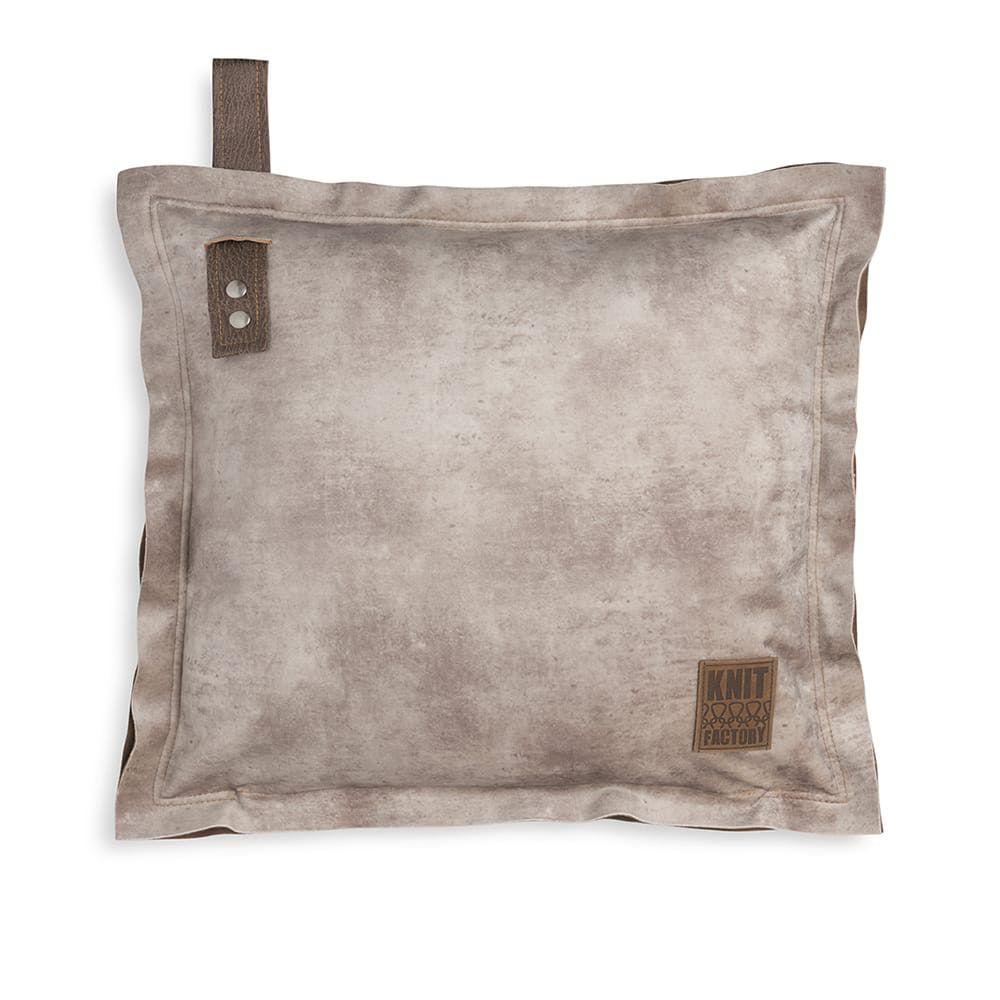 knit factory 1361212 dax kussen 50x50 beige 1