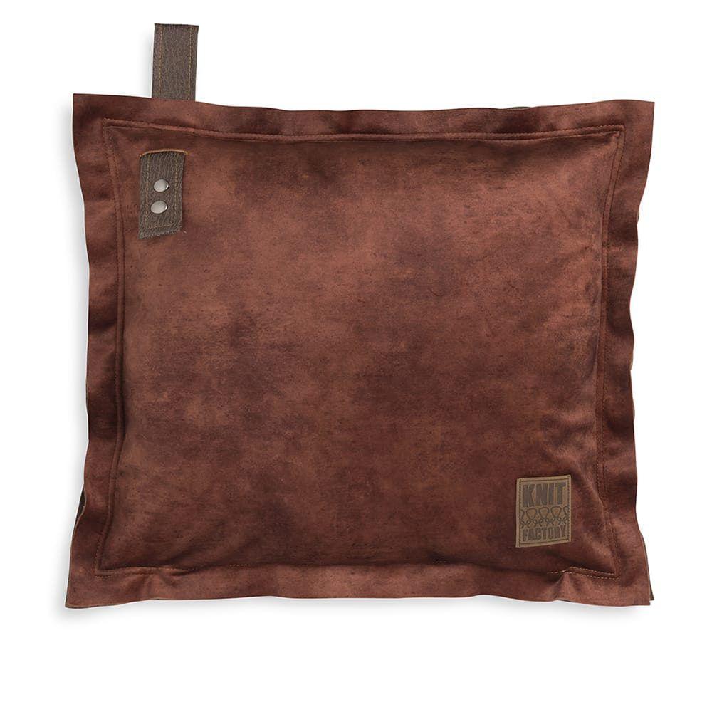 knit factory 1361231 dax kussen 50x50 brique 1