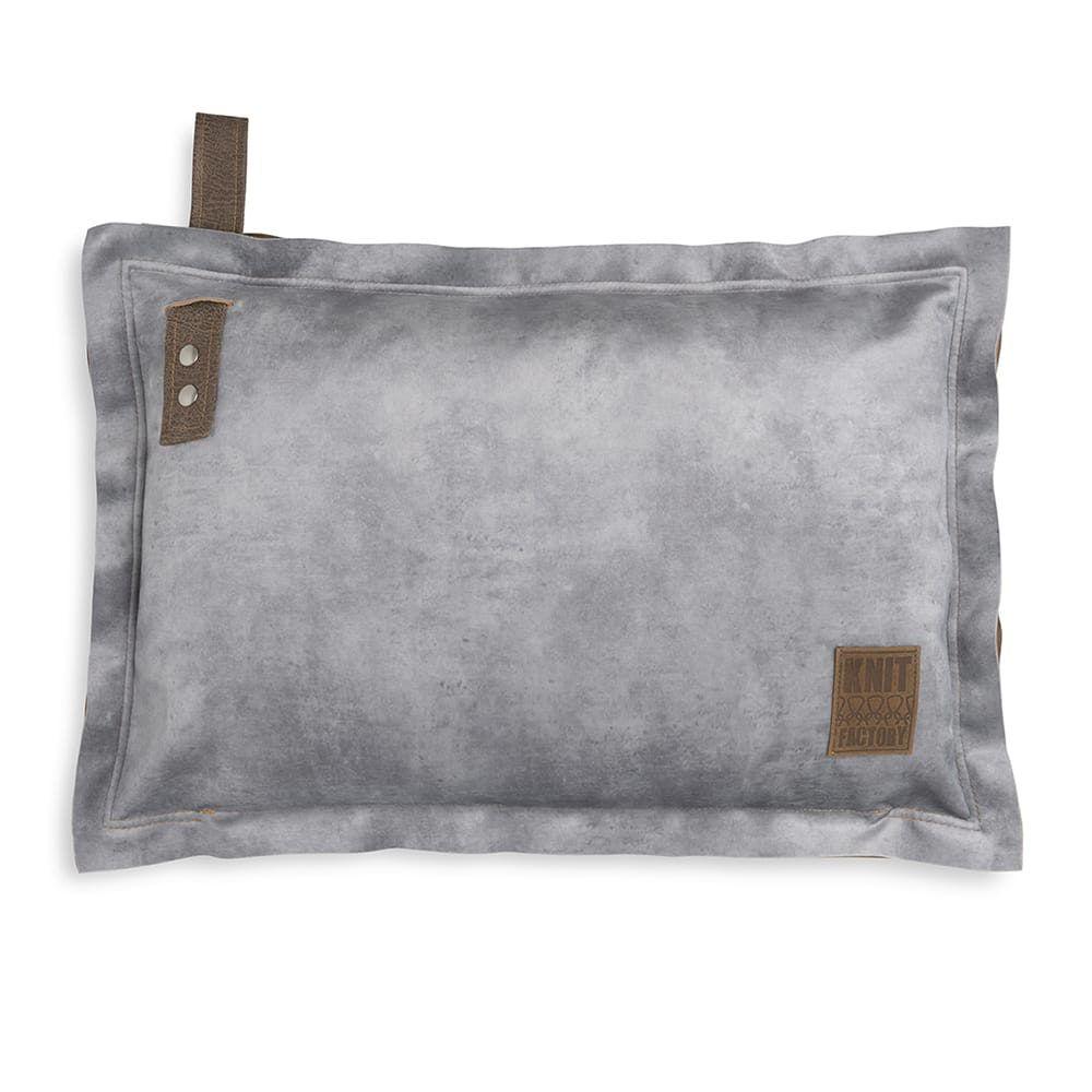 knit factory 1361311 dax kussen 60x40 licht grijs 1