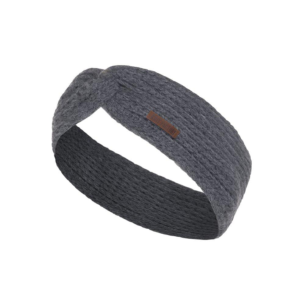 knit factory 1376910 joy hoofdband antraciet 1