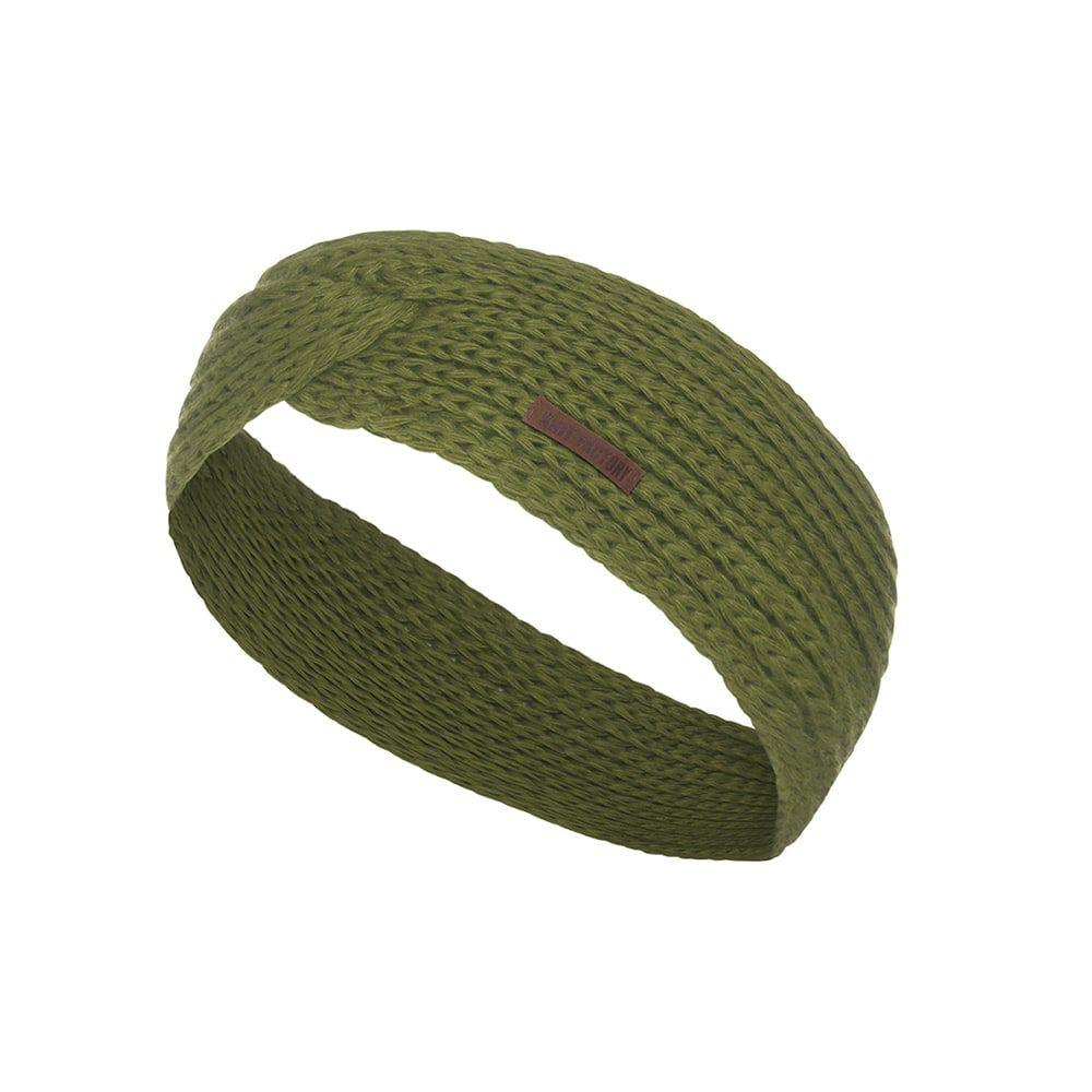 knit factory 1376915 joy hoofdband mosgroen 1