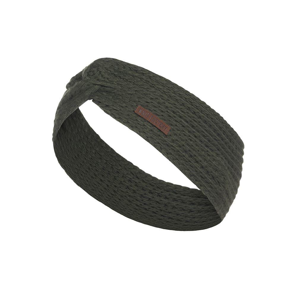 knit factory 1376925 joy hoofdband khaki 1