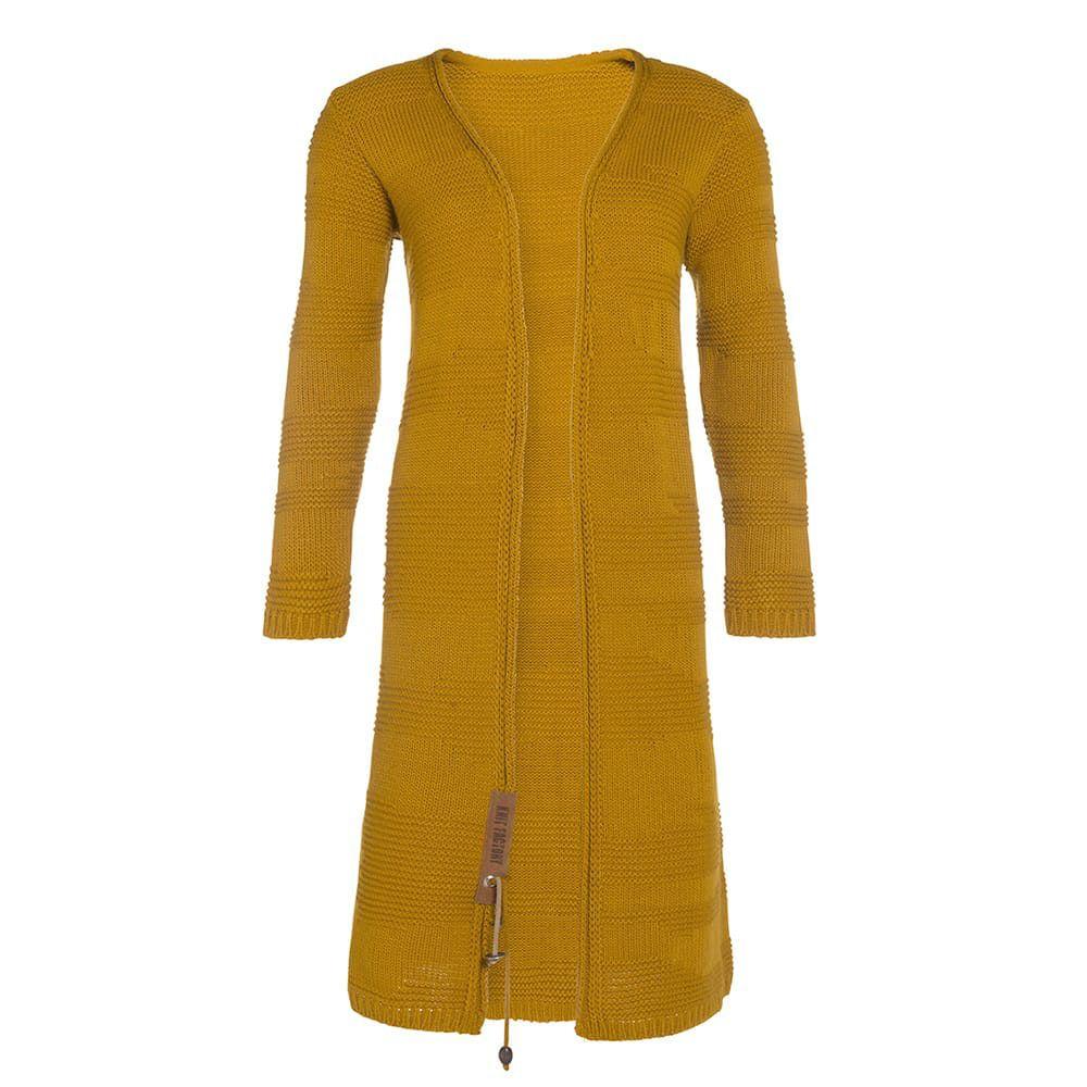 knit factory 1386217 sol vest 3638 oker 1