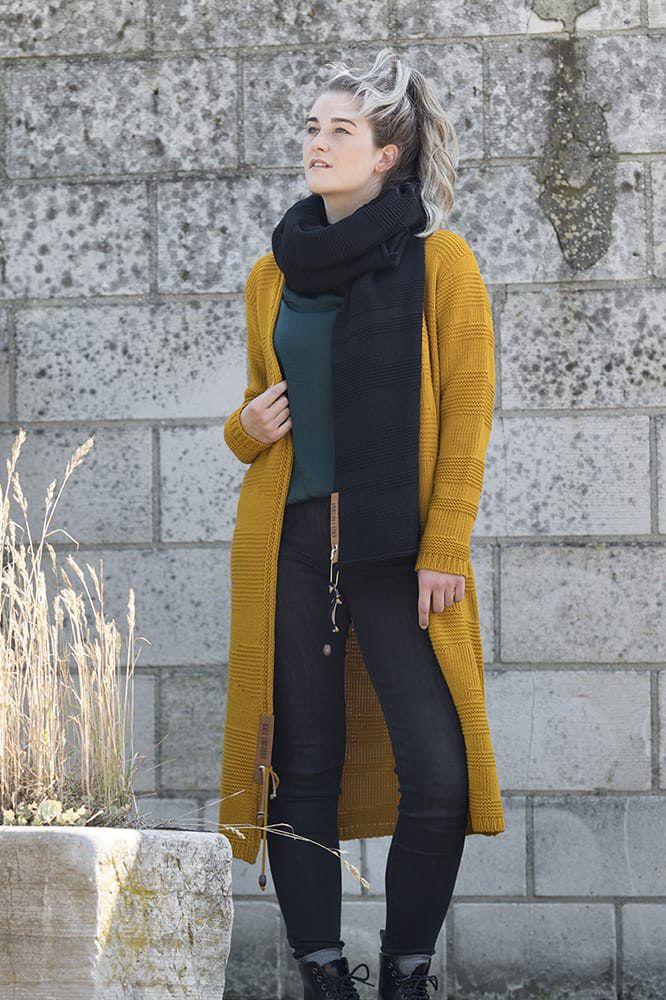 knit factory 1386217 sol vest 3638 oker 5