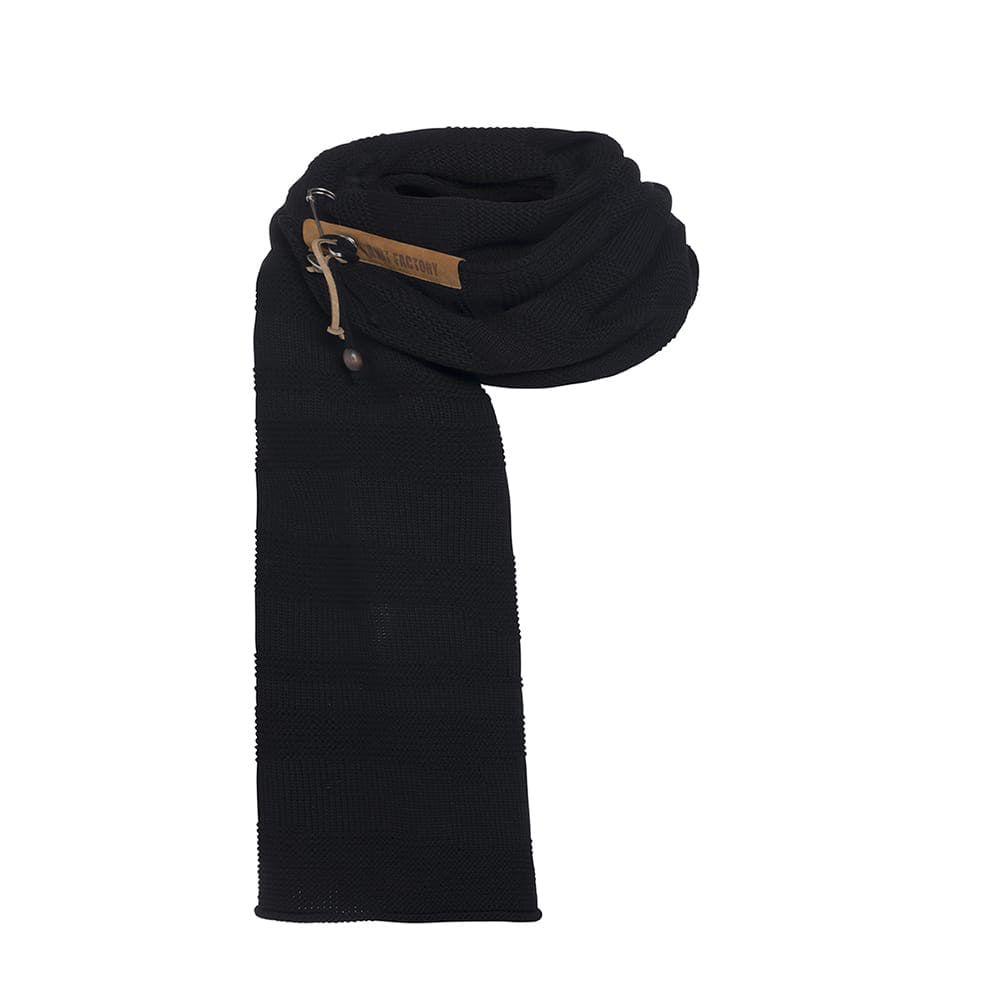 knit factory 1386500 sol sjaal zwart 1