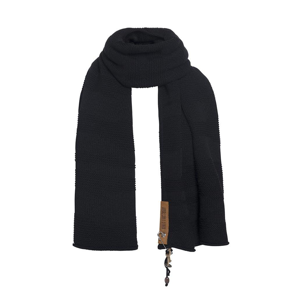 knit factory 1386500 sol sjaal zwart 2