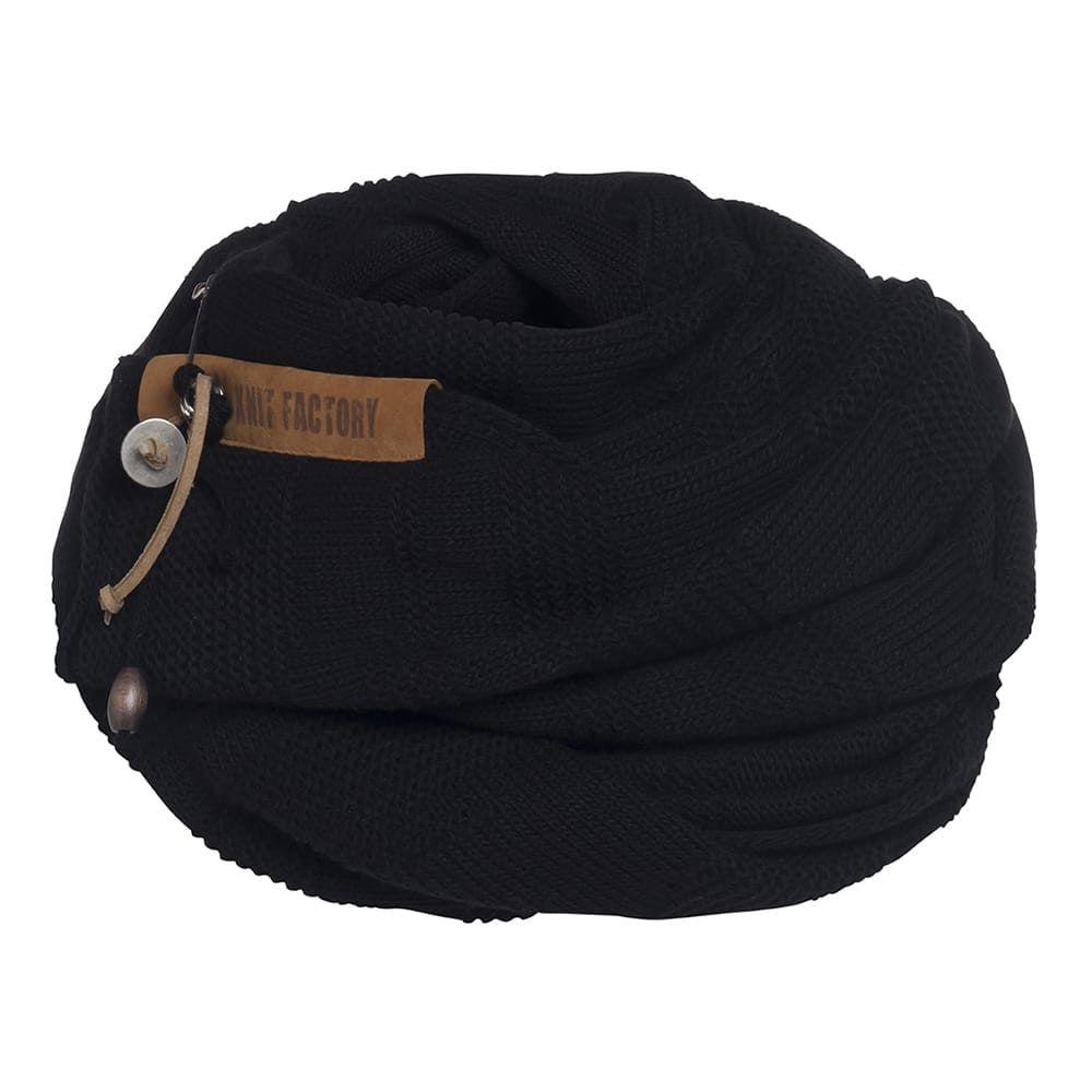 knit factory 1386500 sol sjaal zwart 4