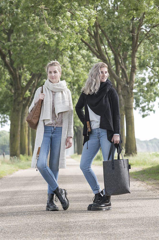 knit factory 1386500 sol sjaal zwart 5