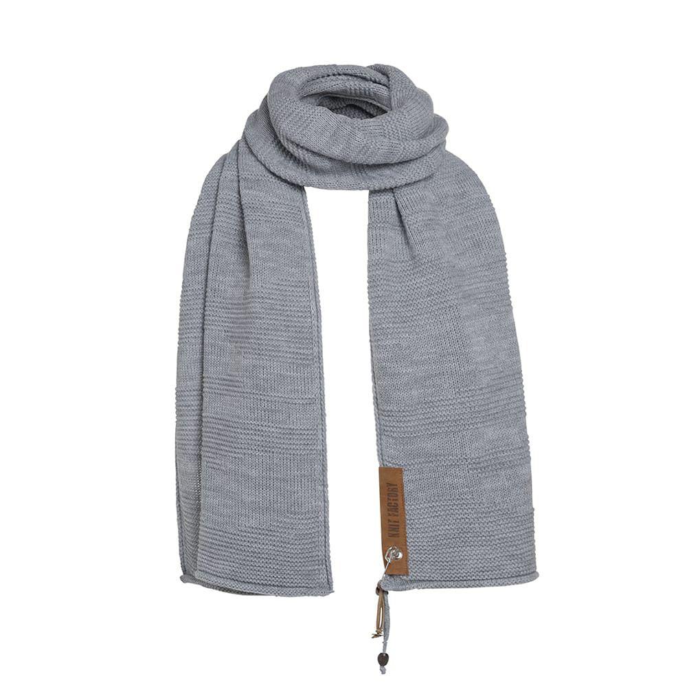 knit factory 1386511 sol sjaal licht grijs 2
