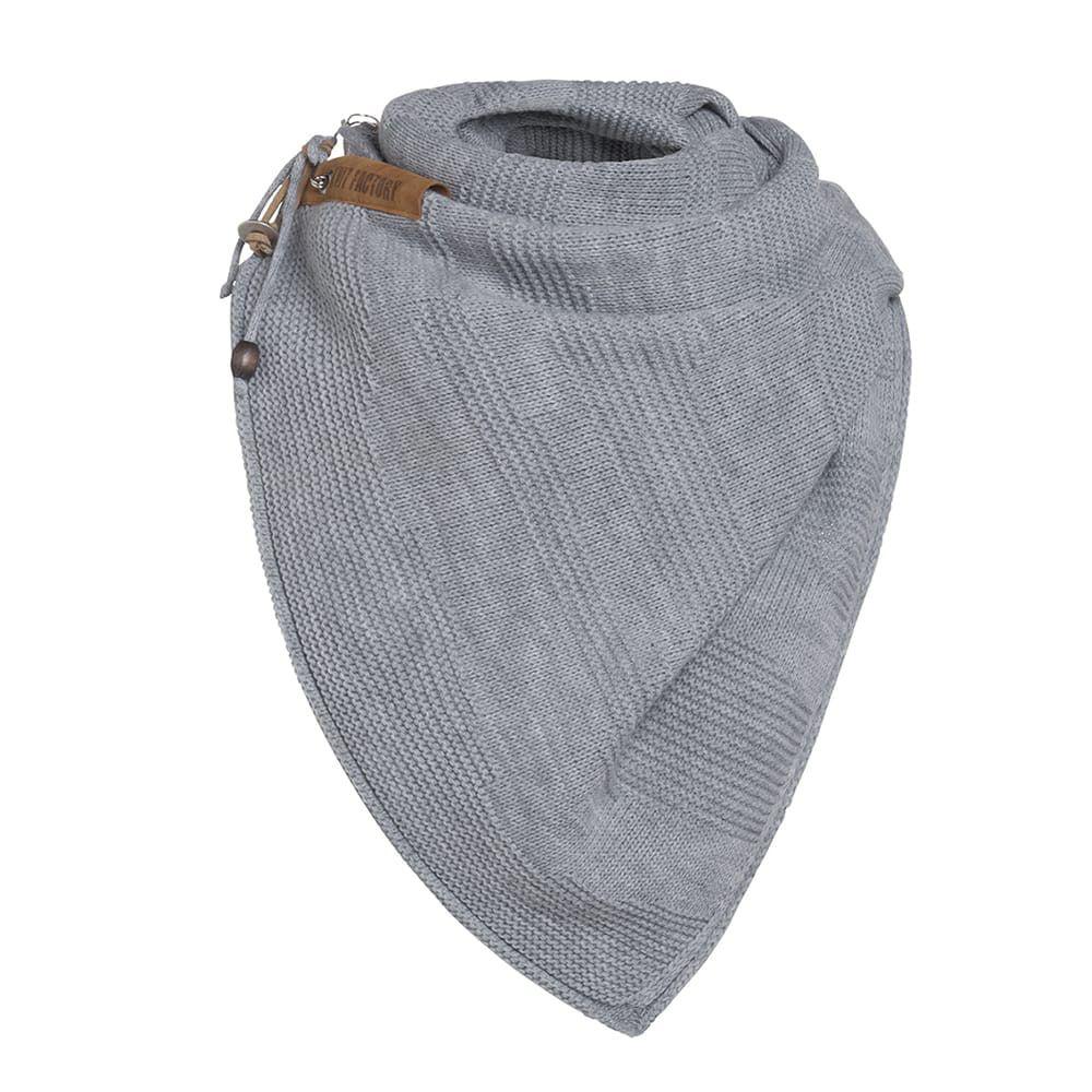 knit factory 1386511 sol sjaal licht grijs 3