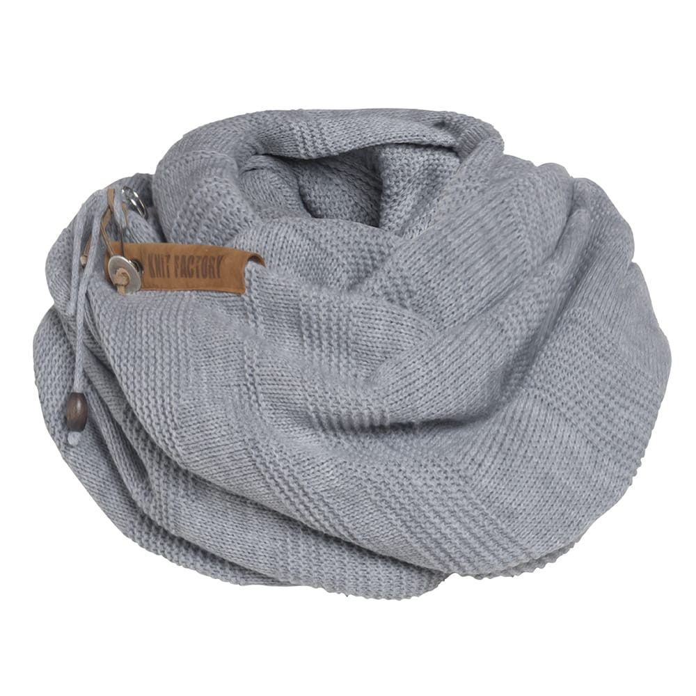 knit factory 1386511 sol sjaal licht grijs 4