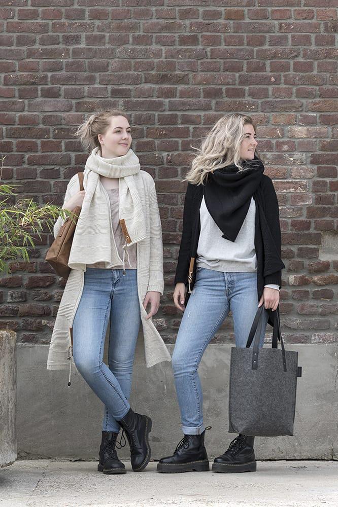 knit factory 1386512 sol sjaal beige 5