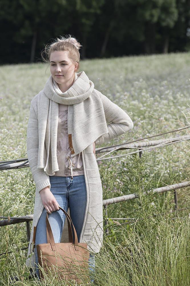 knit factory 1386512 sol sjaal beige 8