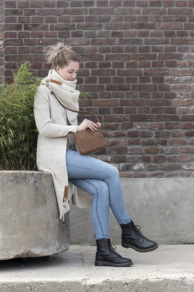 knit factory 1386512 sol sjaal beige 9