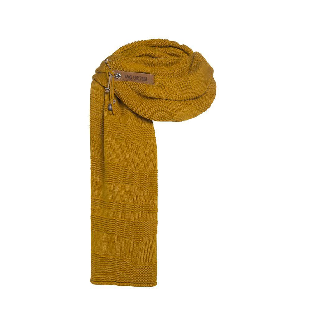 knit factory 1386517 sol sjaal oker 1