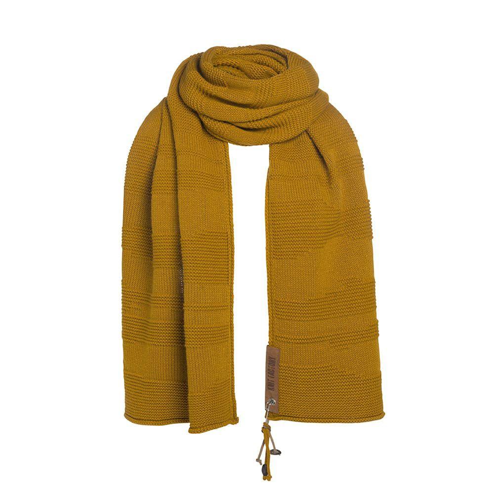 knit factory 1386517 sol sjaal oker 2