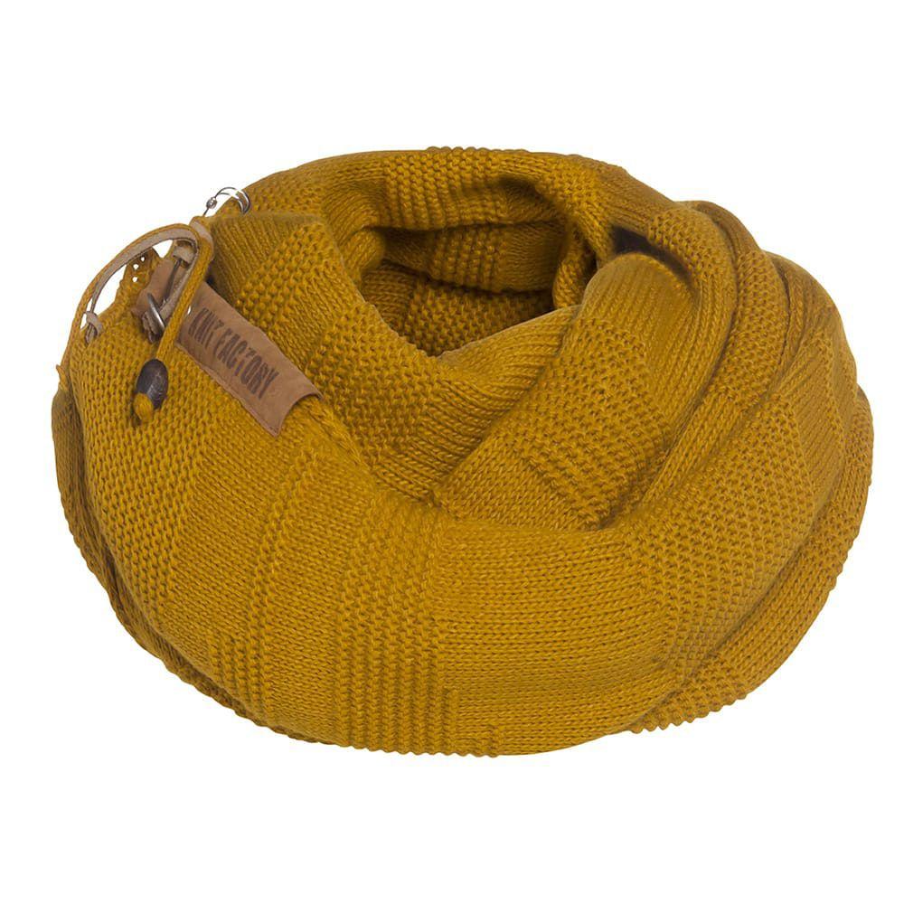 knit factory 1386517 sol sjaal oker 4