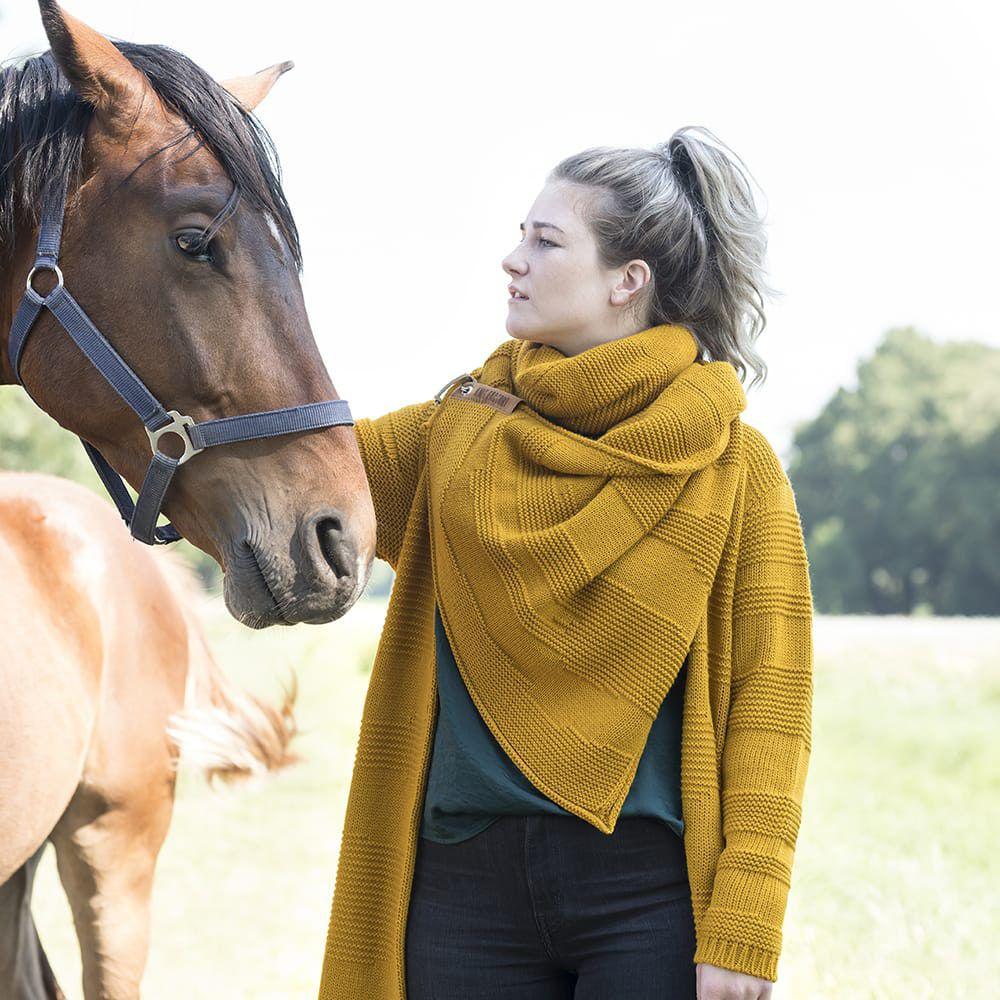 knit factory 1386517 sol sjaal oker 7