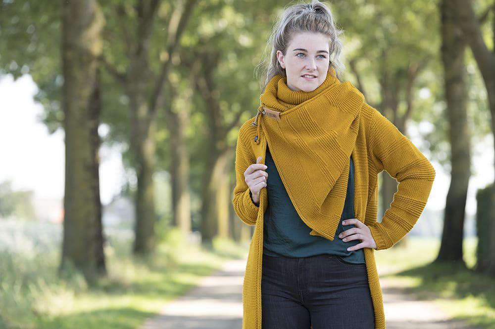 knit factory 1386517 sol sjaal oker 8