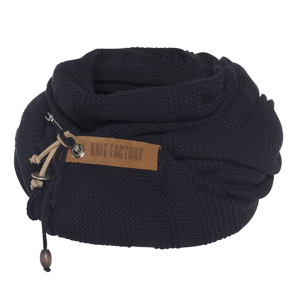 knit factory 1386526 sol sjaal navy 4