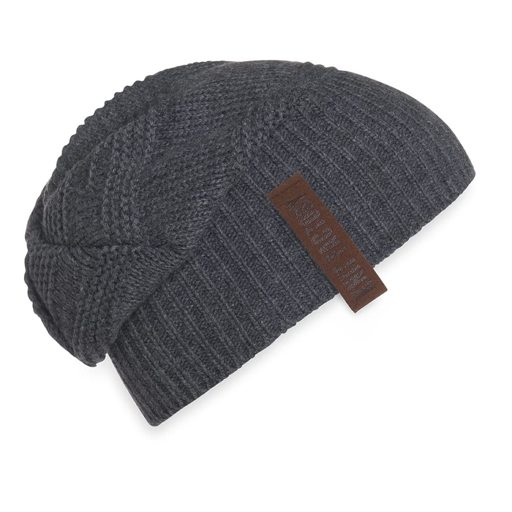 knit factory 1387010 sol beanie antraciet 2