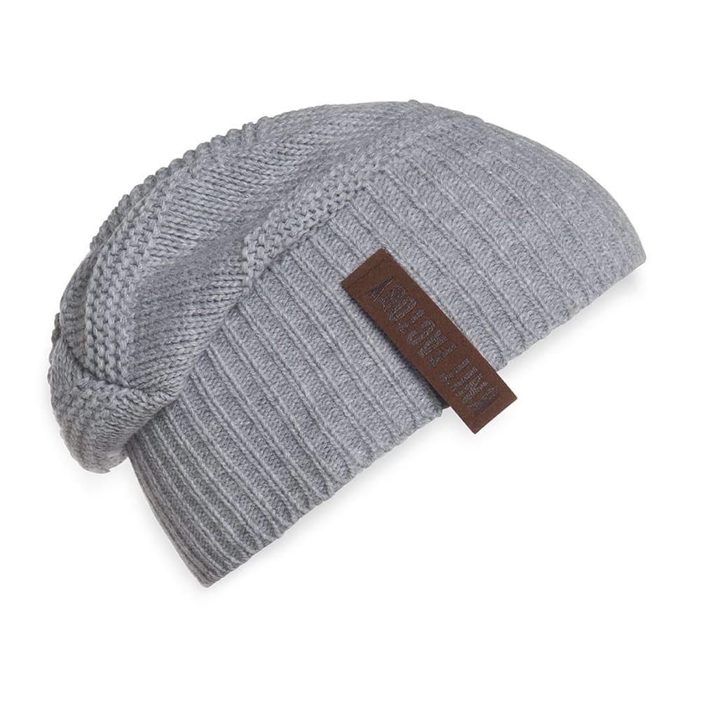 knit factory 1387011 sol beanie licht grijs 2