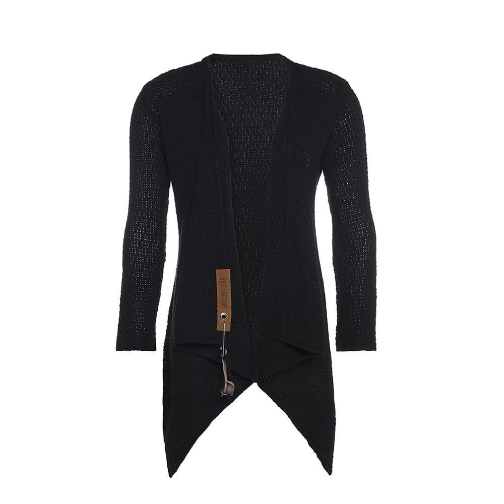 knit factory 1396200 emy vest 3638 zwart 2