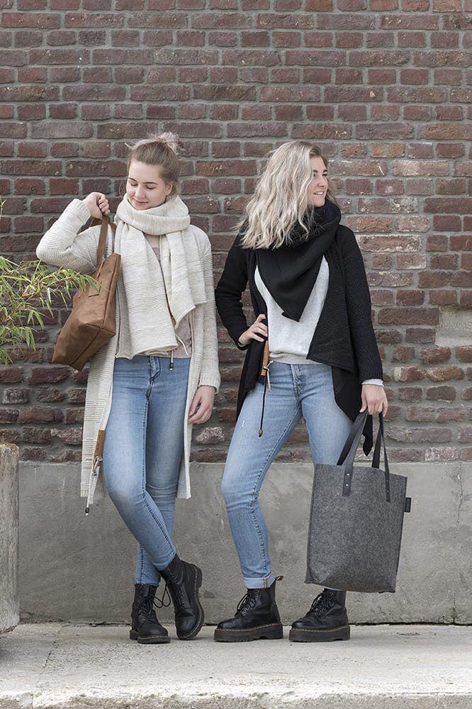 knit factory 1396200 emy vest 3638 zwart 3