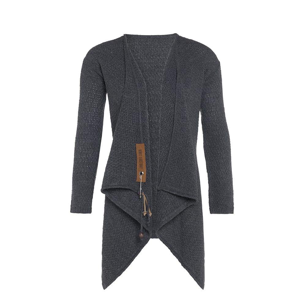 knit factory 1396210 emy vest 3638 antraciet 2