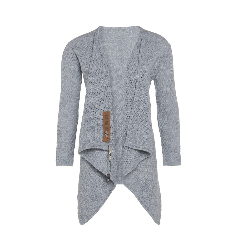 knit factory 1396211 emy vest 3638 licht grijs 2