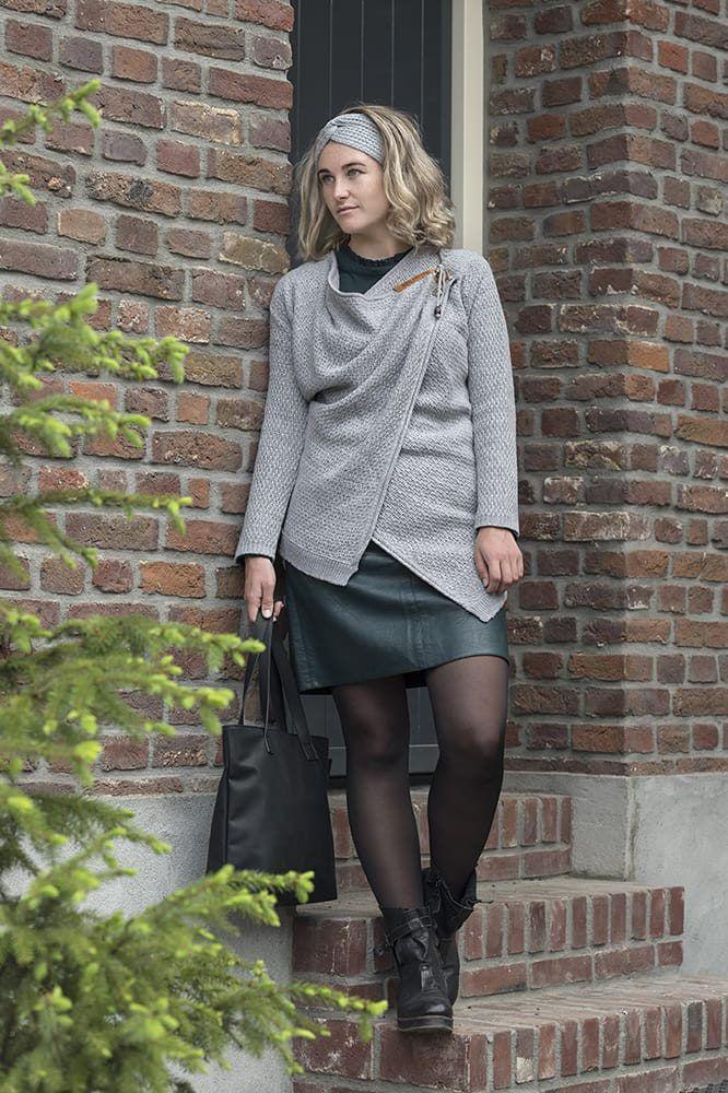 knit factory 1396211 emy vest 3638 licht grijs 3