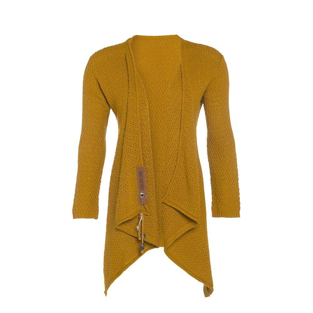 knit factory 1396217 emy vest 3638 oker 2