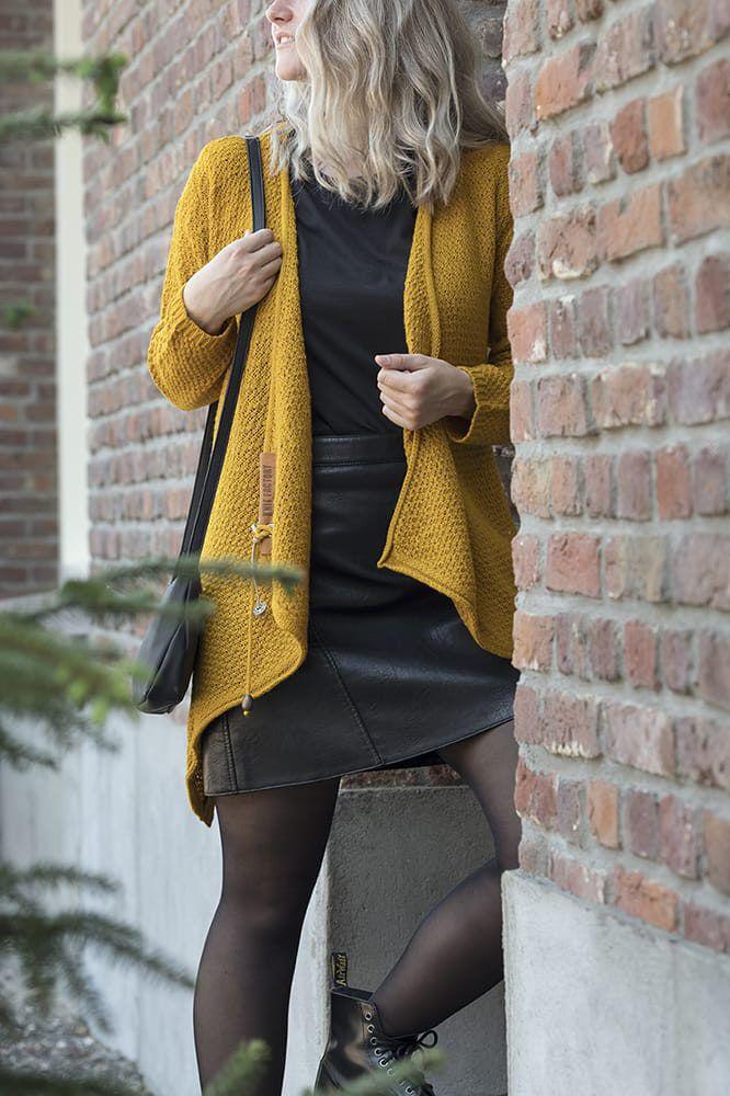 knit factory 1396217 emy vest 3638 oker 4