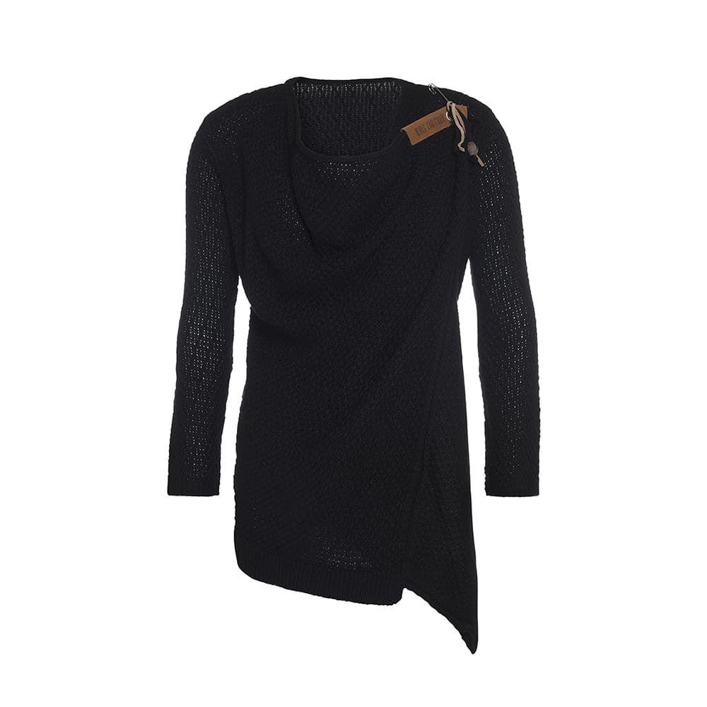 knit factory 1396300 emy vest 4042 zwart 1