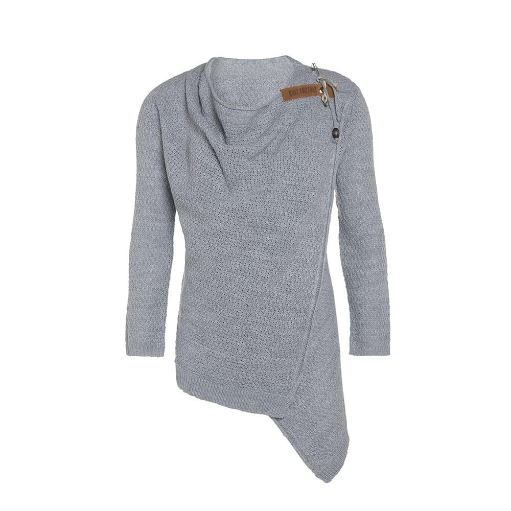 knit factory 1396311 emy vest 4042 licht grijs 1