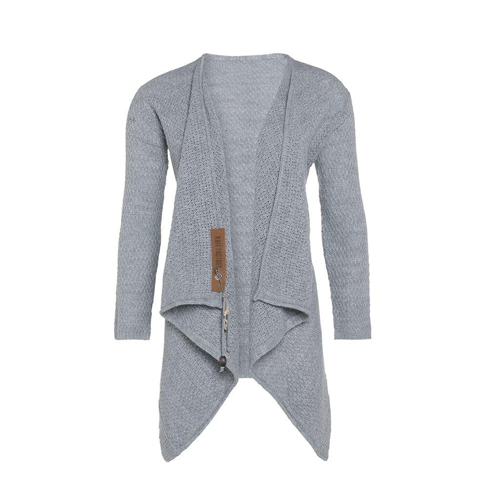 knit factory 1396311 emy vest 4042 licht grijs 2