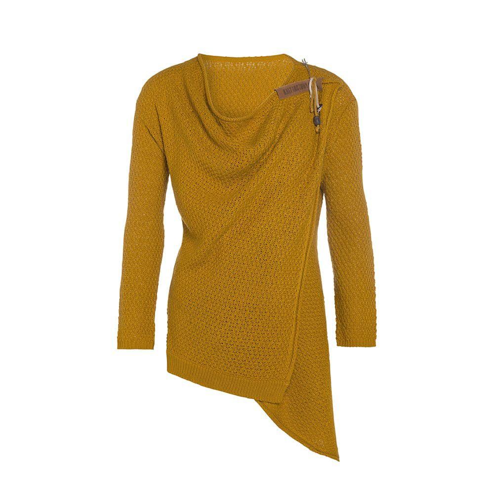 knit factory 1396317 emy vest 4042 oker 1