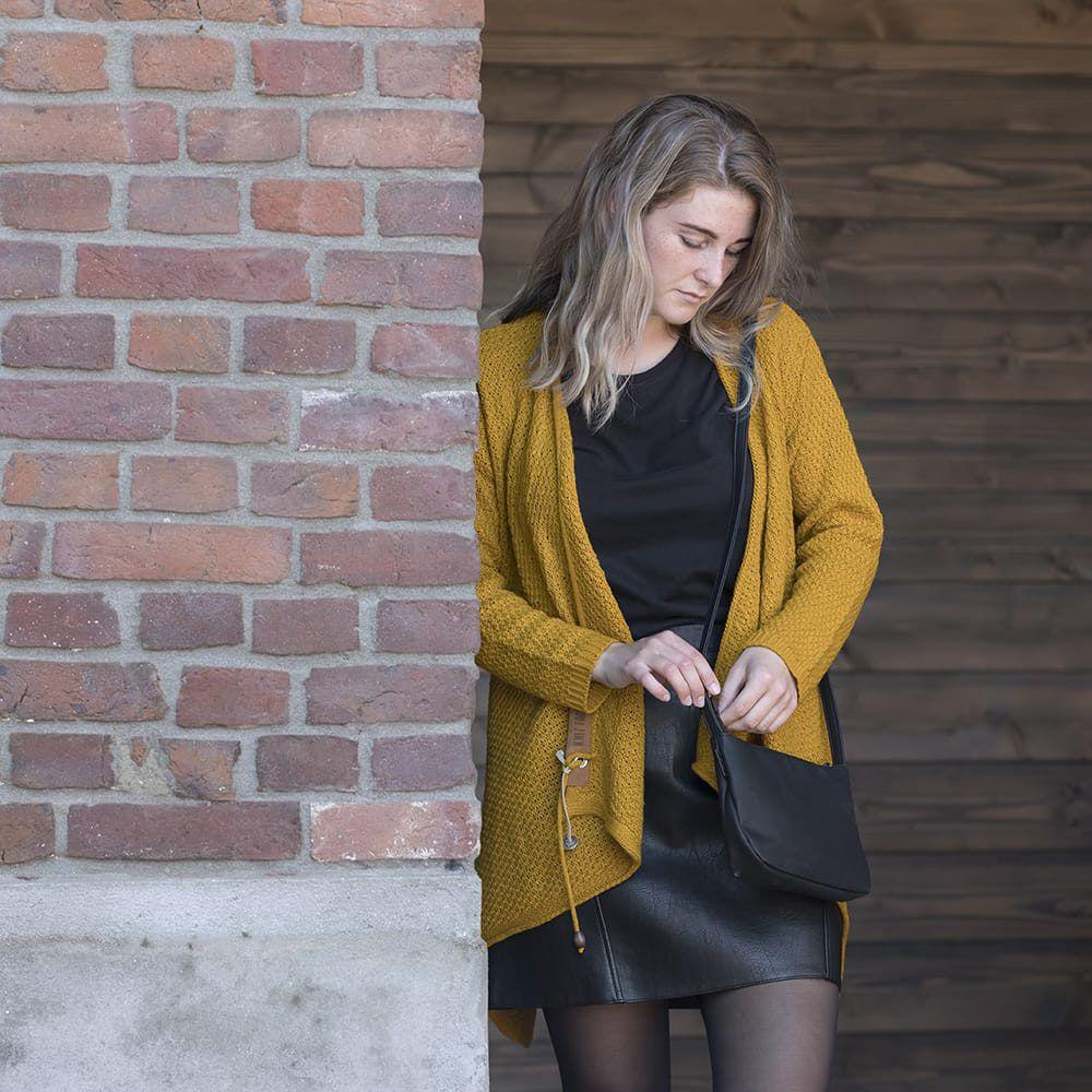 knit factory 1396317 emy vest 4042 oker 3