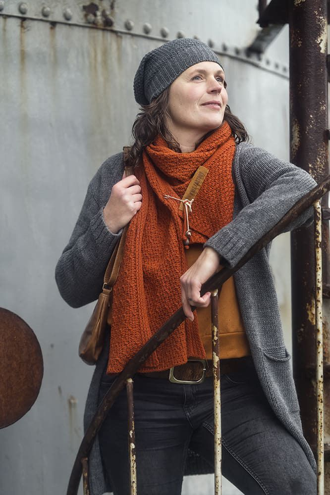 knit factory 1406210 ruby vest 3638 antraciet 3