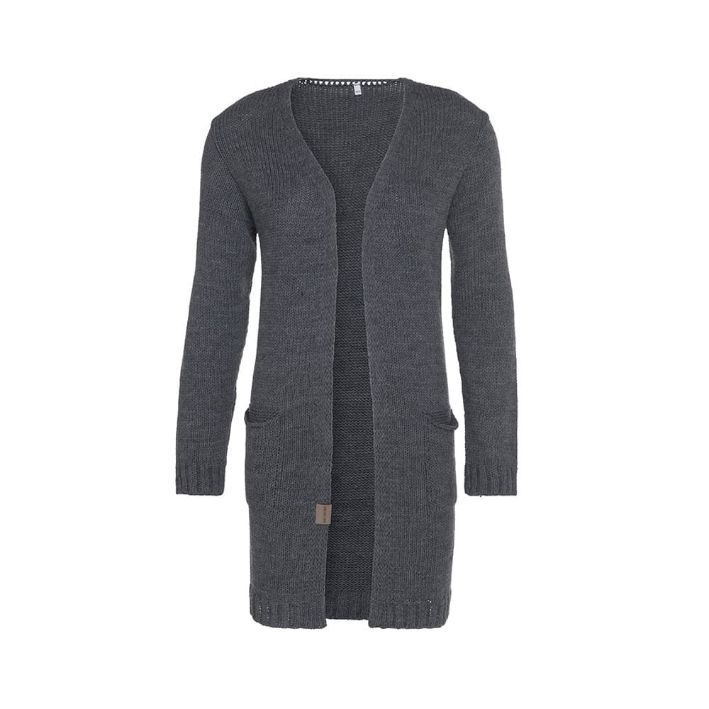 knit factory 1406310 ruby vest 4042 antraciet 1