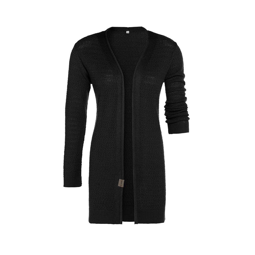 knit factory 1416300 june vest 4042 zwart 1