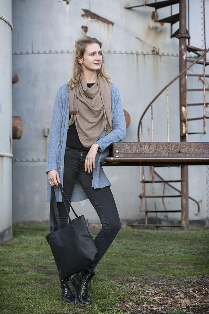knit factory 1416305 june vest 4042 stone blue 3