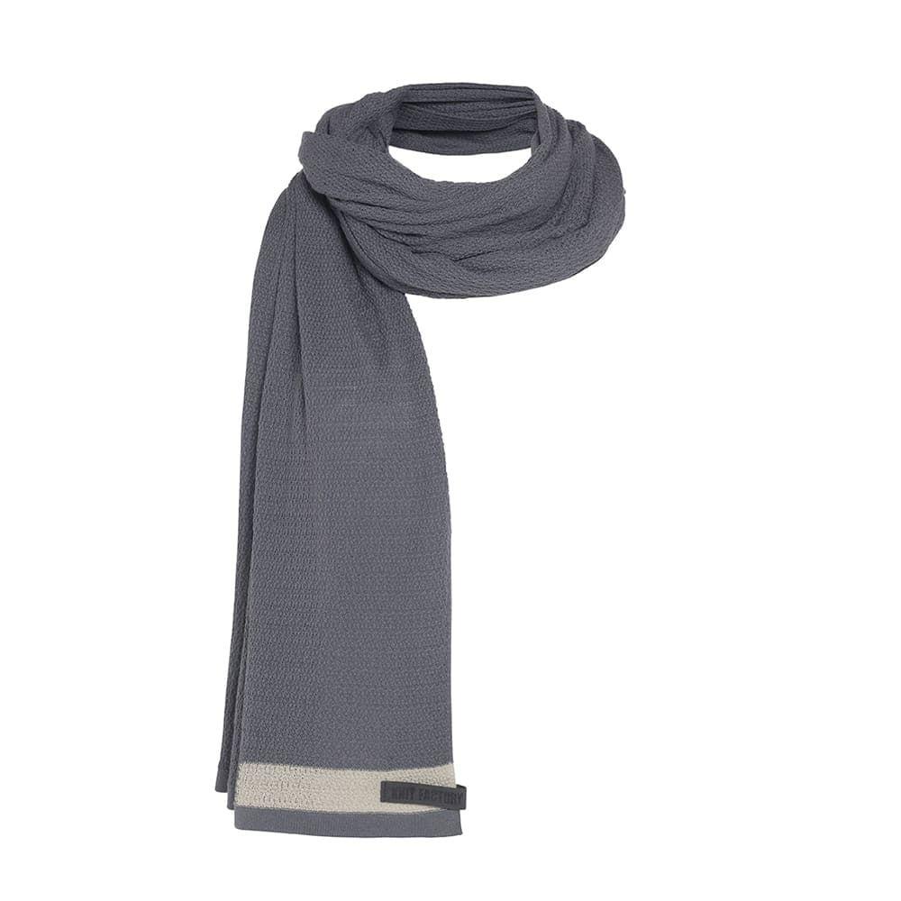 knit factory 1416500 june sjaal zwart 4