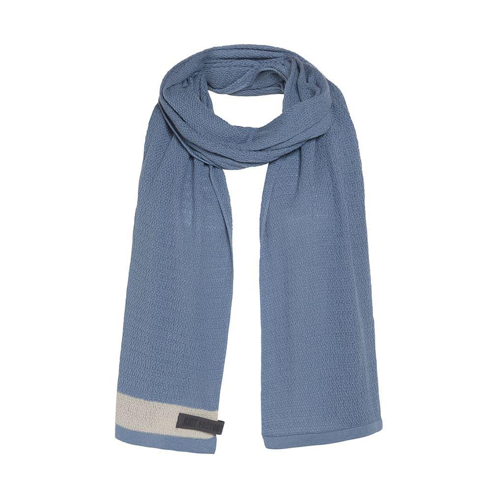 knit factory 1416505 june sjaal stone blue 1