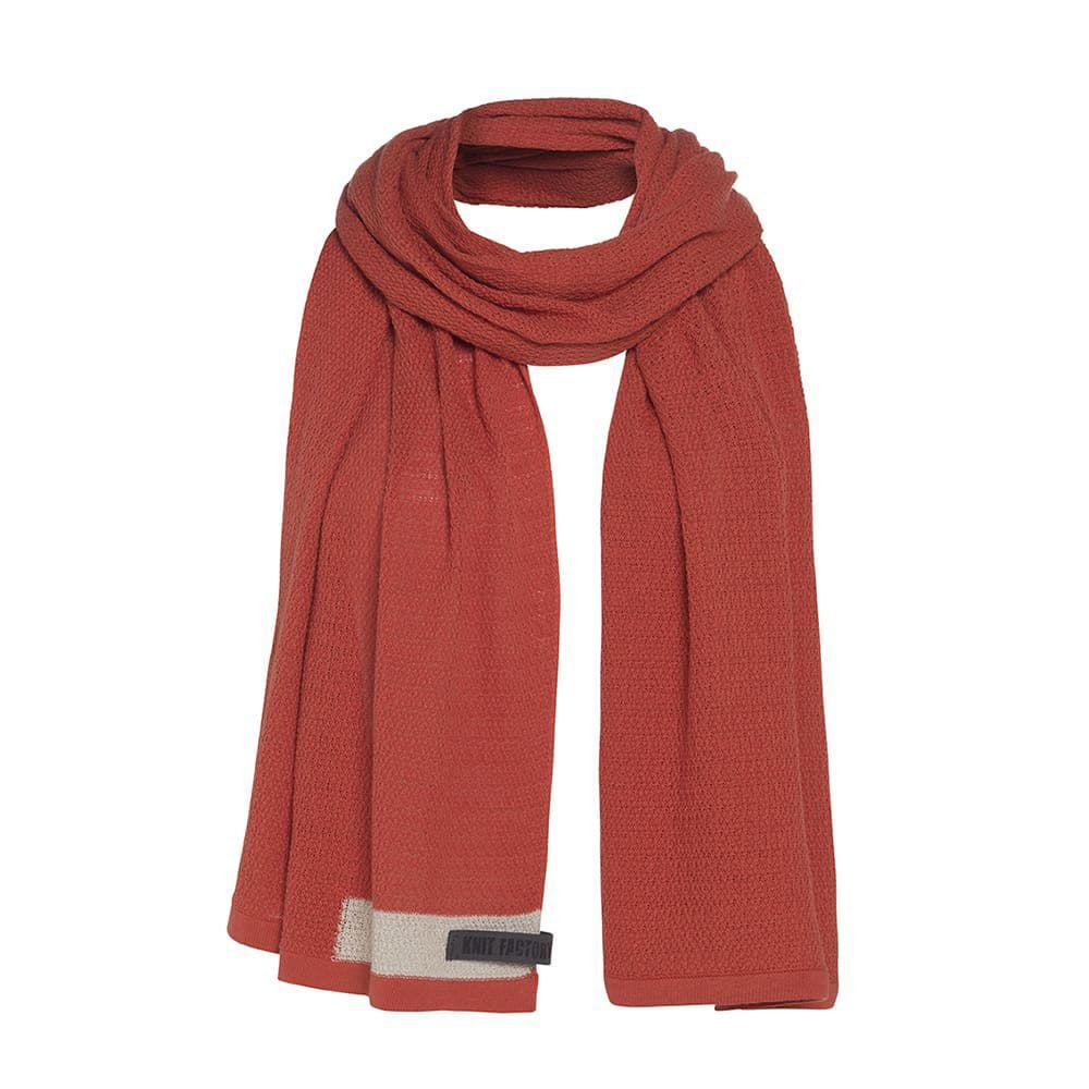 knit factory 1416516 june sjaal terra 1