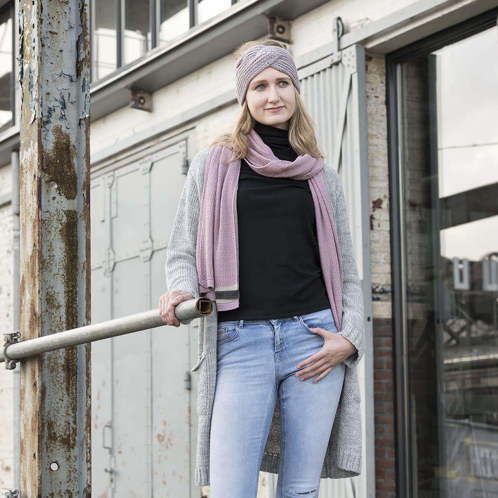 knit factory 1416522 june sjaal roze 5