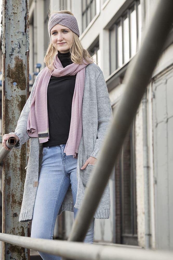 knit factory 1416522 june sjaal roze 6